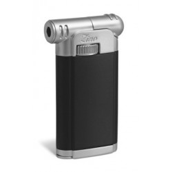 Zino pip lighter black chrome black