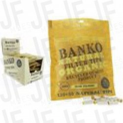 BANKO 6MM NATURAL FILTER TIPS 120 + 30 GRATUITS (*)