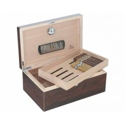 HUMIDOR LUBINSKI Q46044 BUBINGA HIGH POLISH 100 CIGARES
