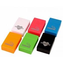 ETUI PAQUET 618816 PLASTIC SMOKING COLORS 20KS(*)