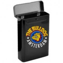 THE BULLDOG AMSTERDAM METAL CIGARETTE BOX FC LOGO