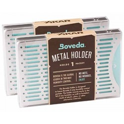XIKAR BOVEDA 2-WAY HUMIDITY CONTROL METAL HOLDER 2 PACKET