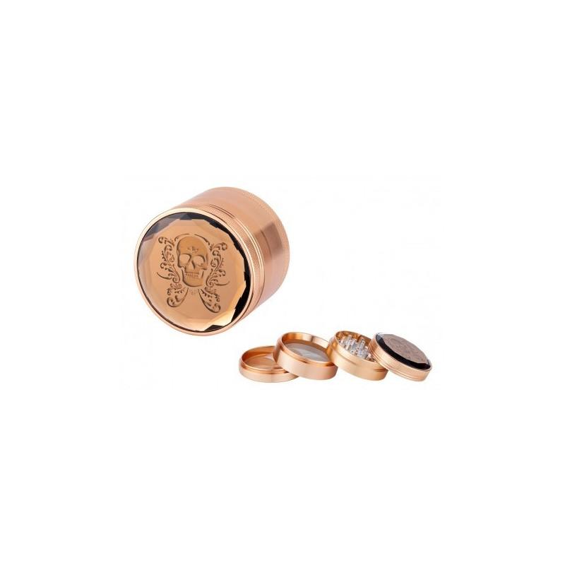 Skull Alu grinder 4P 60mm Bronze