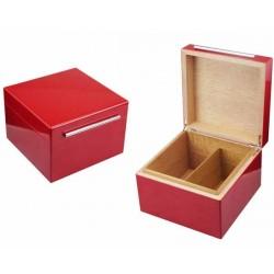 HUMIDOR VB 49.215 RED 21,5 x 21,5 x 15cm