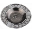 BULLDOG METAL ASHTRAY EMBOSSED