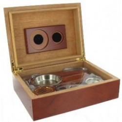 SET HUMID/ASHTRAY/CIGAR CUTTER