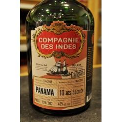 Compagnie des Indes 'Panama' 10Y./2018. Secrete Distillery. 43%.