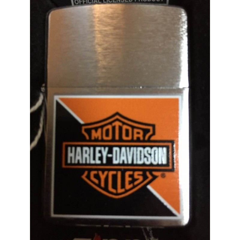Briquet Zippo Harley-Davidson HD orange et black