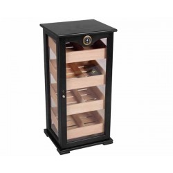 HUMIDOR 09468 GASTRO BLACK/GLASS 150 CIGARS