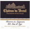 """CALVADOS Réserve des Seigneurs """"20 Ans d'Âge"""" – XO_700ml. CHATEAU DU BREUIL"""