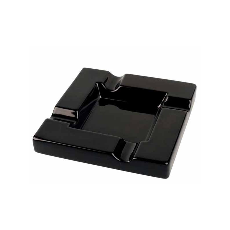 CENDRIER CIGARE 523042 CERAMIQUE SHINY BLACK 4 RESTS