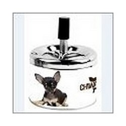 SPINNING ASHTRAY CHIHUAHUA