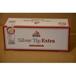 250 TUBES POUR CIGARETTES GIZEH SILVER TIP EXTRA