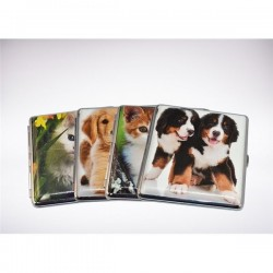 Cigarette case Cute animals w/elastic (*)