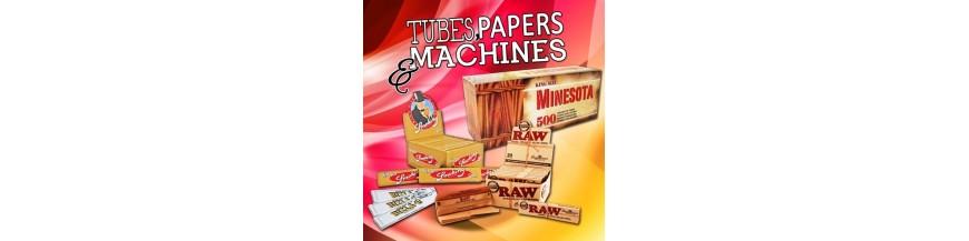 Machines à tubes et papier à rouler pour cigarettes