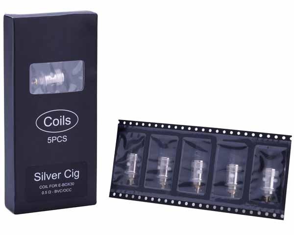 SILVER CIG COIL FOR E-BOX30 40678634 (5PCS)