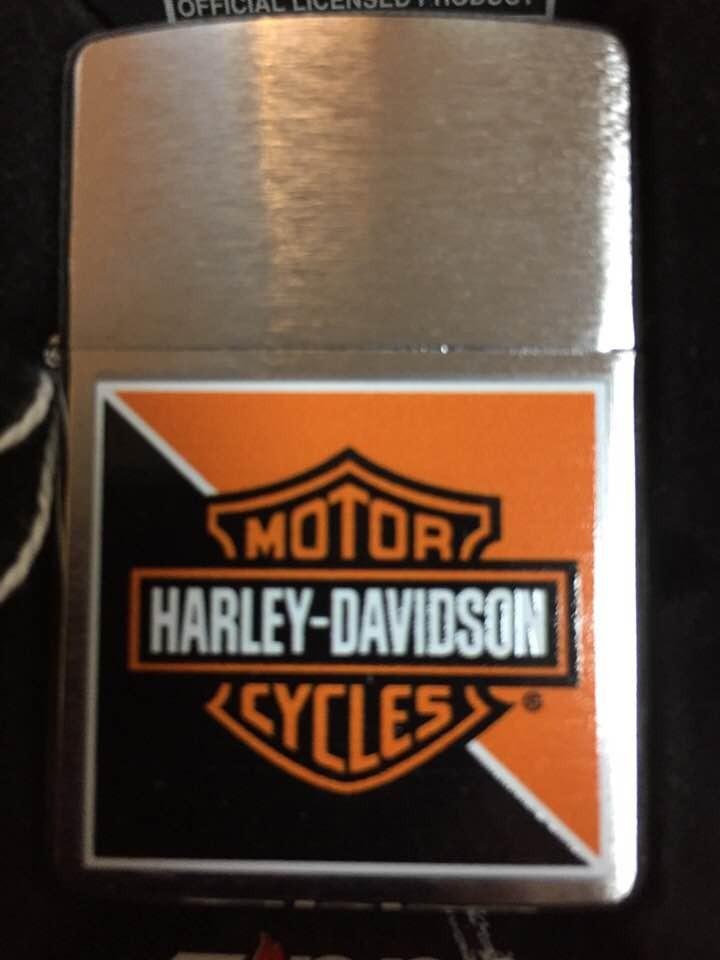Briquet Zippo Harley-Davidson HD orange et black