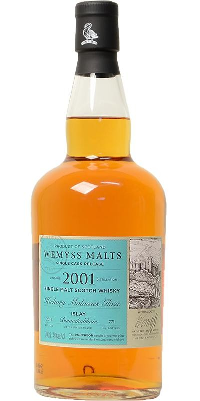 wemyss malts (bunnahabhain) hockory molasses glaze