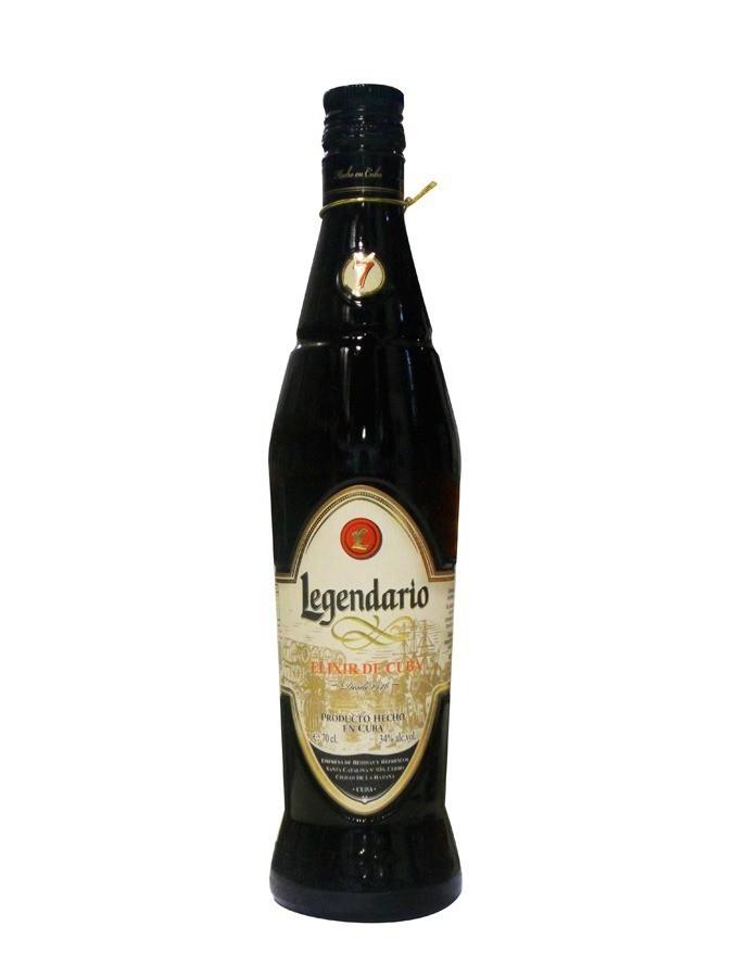 LEGENDARIO Elixir de Cuba 34% , 70cl