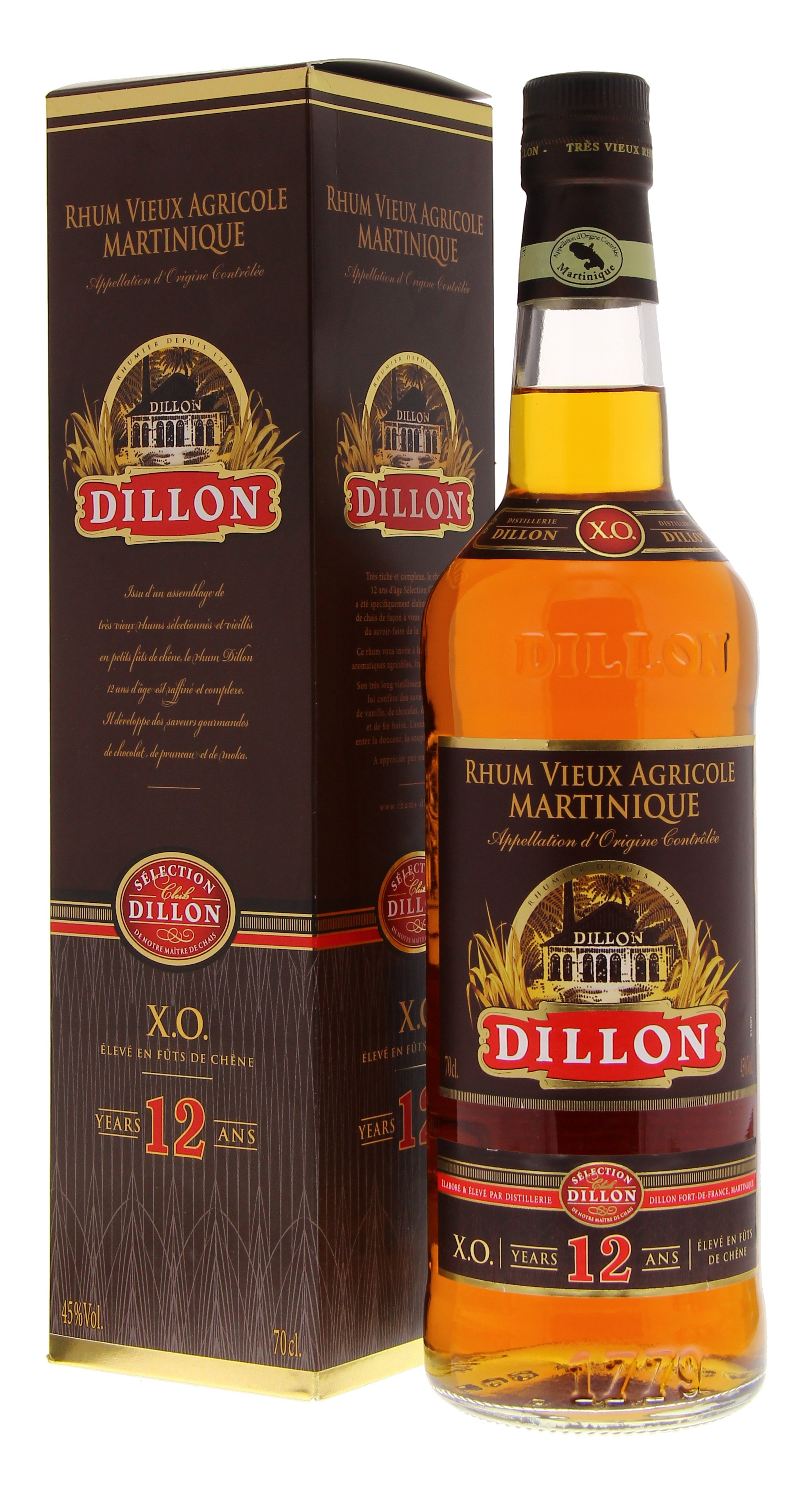 Dillon 12 Years + Gift Box 45° 0.7L