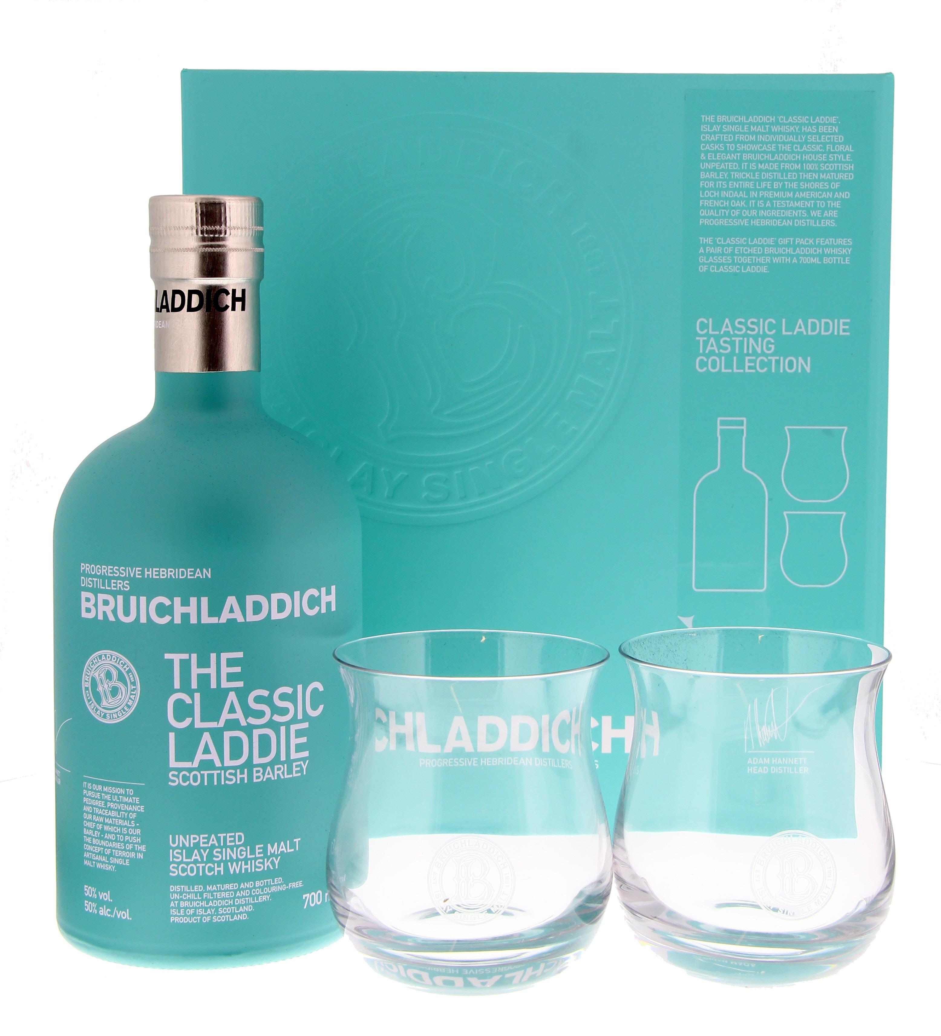 Bruichladdich Scottish Barley The Classic Laddie + 2 glasses 50° 0.7L