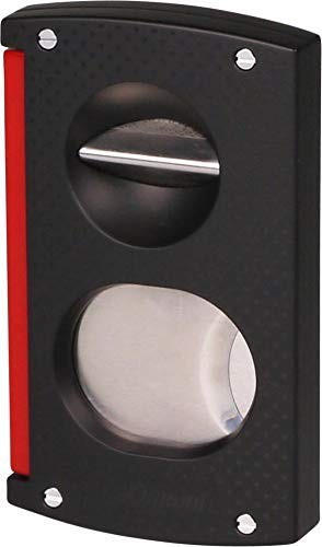 cigar cutter double blade black and red Dupont