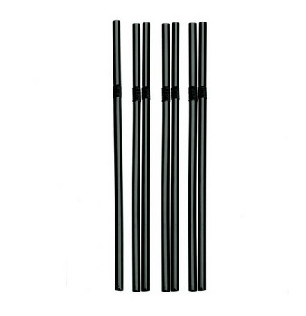 Pailles Flexible straw ø 6 mm 19.5 cm black par 500
