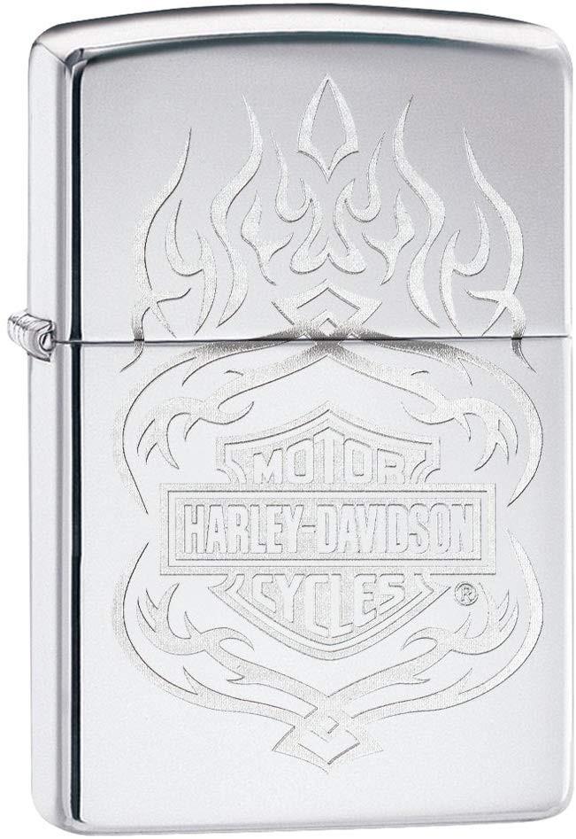 Zippo HARLEY DAVIDSON 60003932 Briquet, Laiton, Chrom, 5,5 x 3,5 x 1 cm