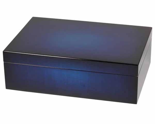 HUMIDOR 562355 BLUE GRADIENT HI-GLOSS 50 CIGARES