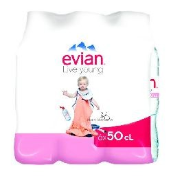 EVIAN 6X50CL.PET
