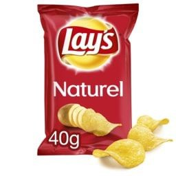 LAYS CHIPS NATUREL 40G