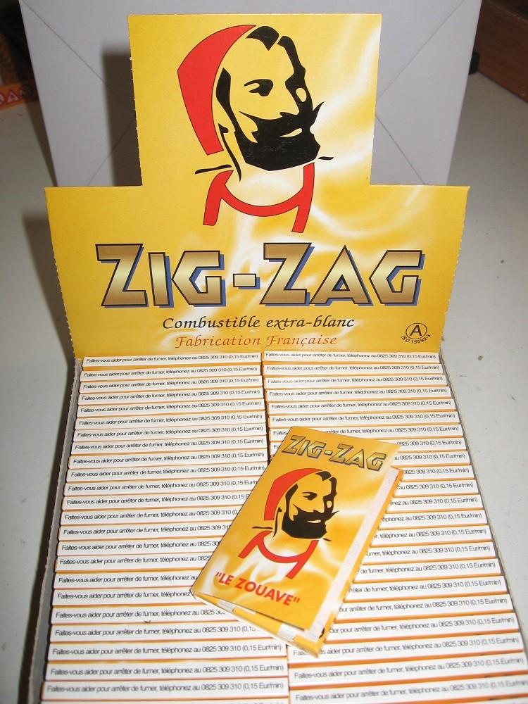ZIG-ZAG JAUNE COMBUSTIBLE...