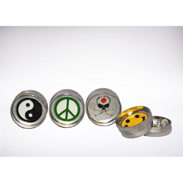 Zinc grinder 2 parts 30*15mm