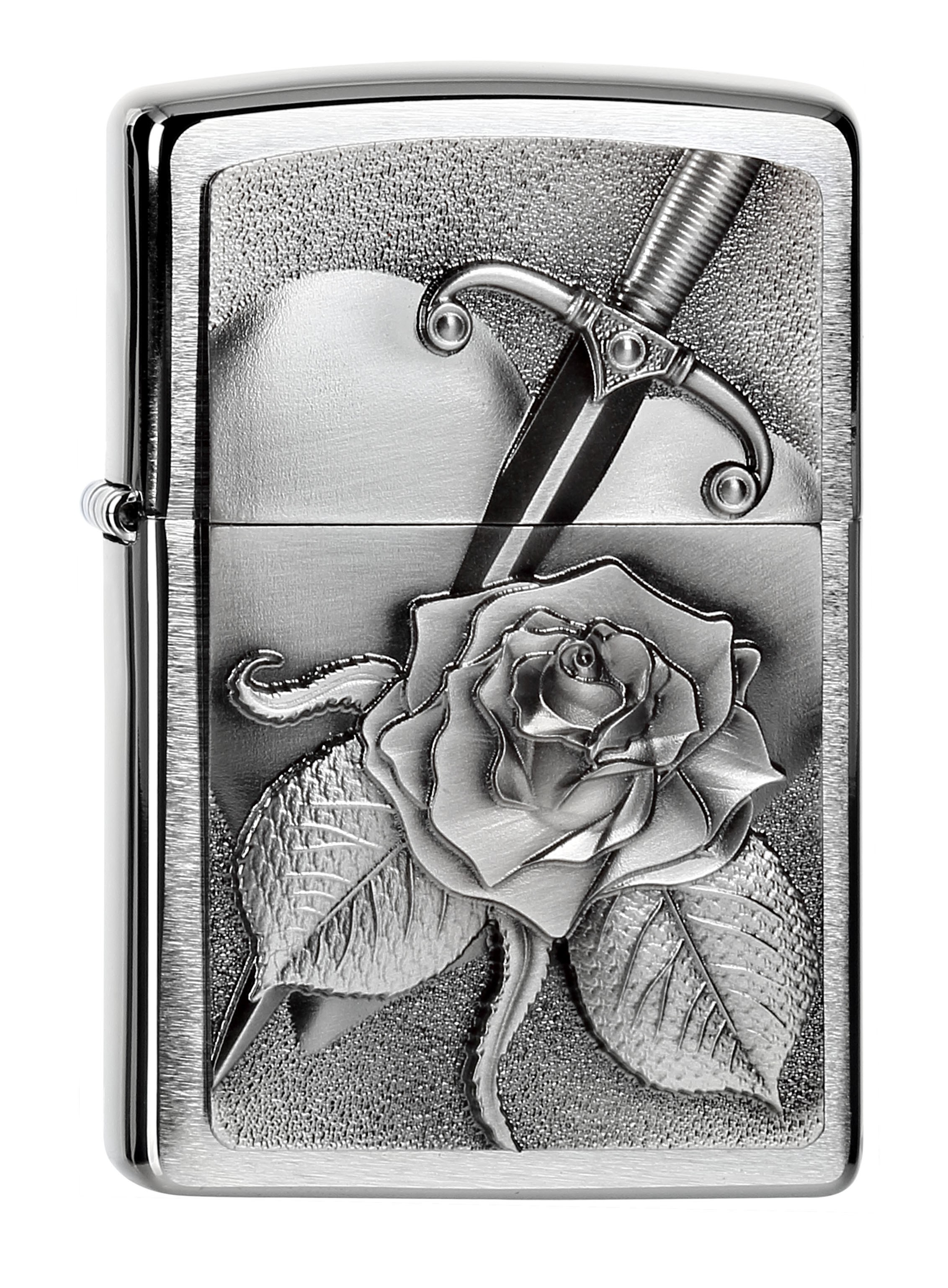 ZIP200 Heart with Rose