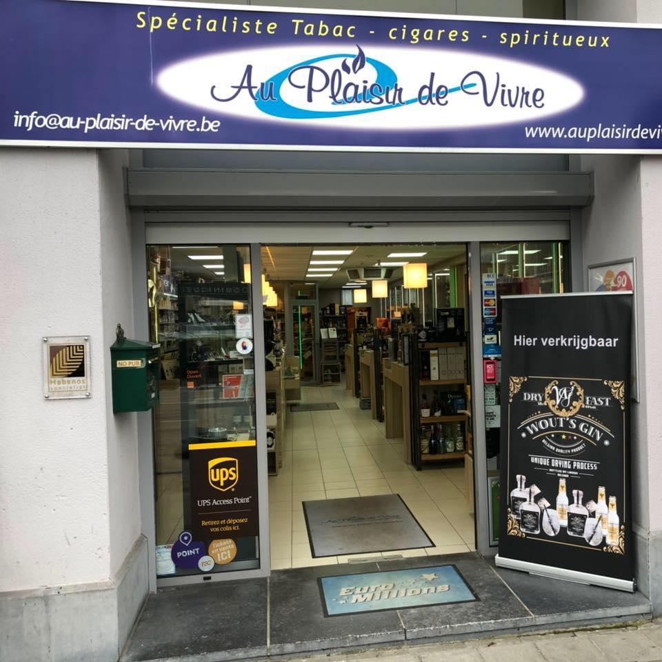 Au plaisir de vivre le magasin actuel au 534b chaussée de Bruxelles à Waterloo